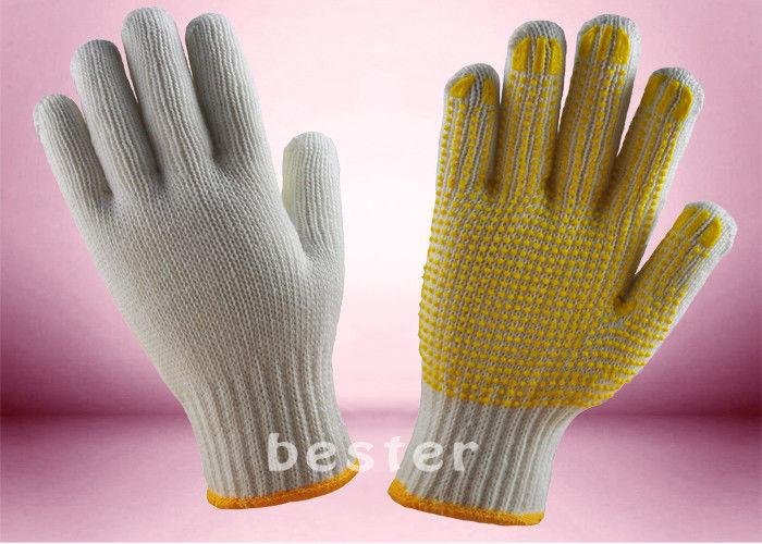 5722cd80ebcbed Rękawice z dzianiny odporne na ścieranie, rękawice bawełniane z kropkami z  PCV Bezpłatne próbki